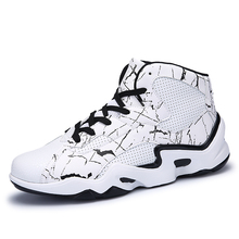 Mens Basketball Sneakers Shockproof Mens High Sneakers Anti-Slippery Sport Shoes for Men Orange/White Men Basketball Shoes Gym