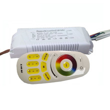 1X RGBW CCT & RGB color adjustable and dimmable 2 channel output led driver 220V input 40-54W with 2.4G RF remote controller