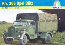 Out of print! Italeri Model Kit - Kfz 305 Opel Blitz Truck - 1:35 Scale - 216(China)