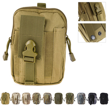 HOT SALE 1000D Tactical bag Molle Oxford Waist Belt Bags Wallet Pouch Purse Outdoor Sport Pack EDC Camping Hiking Bag 10 colors(China)