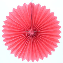 "Promotion!!!Hanging Party Decoration 16""(40cm) Tissue Paper Fan Wedding  Supplies Round Paper Fan"
