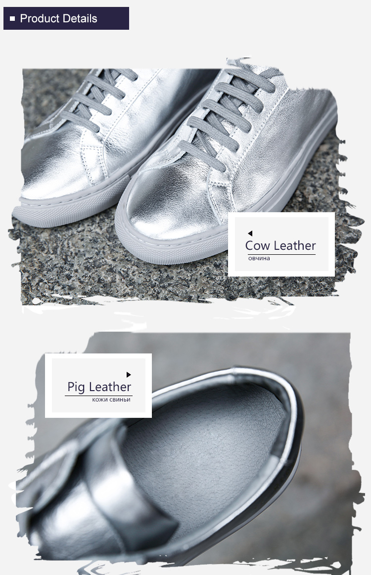 Flat Leather Lace-Up Stop118 4