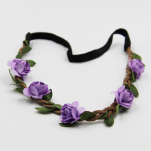 7 Pcs Different Colors Hair Accessories Girls Headbands Rose Flowers Crown Wedding Hair Accessory Flores Headband for Women