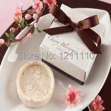 "150pcs/Lot+Cheap Wedding Favors""Cherry Blossom"" Scented Soap Handmade Beauty Soaps Bridal Shower Favor and Gift+FREE SHIPPING"