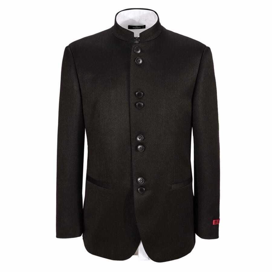 9 (1) men jacket wedding groom handsome suit jacket fashion popular style Mandarin collar custom high quality men jacket
