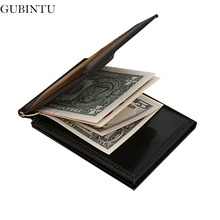 GUBINTU Magnetic Men Money Clip Luxury Brand Male Wallet Black Steel Clips For Men Billfold Clamp carteras hombre --BID078 PM49(China)