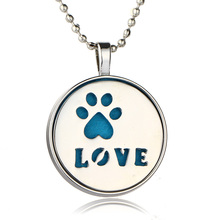 "LUOTY New Style Unopenable Dog Pug Letter ""Love"" Couples Long Pendant Diffuser Necklace Lovers Pendant Necklace Hot Sell"