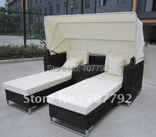 Urban new style double bed rattan outdoor lounger(China)