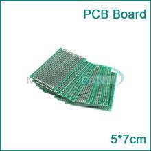 Double Side 5x7 cm Prototype Universal FR-4 Glass Fiber PCB Board