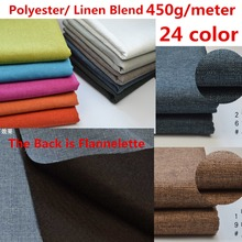 Thick Subbed Linen Style Polyester Fabric Craft Cushion Table Sofa Curtain Upholstery Fabric Composite Flannelette Back 450g /M