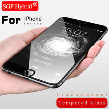 Tempered Glass Case For Apple iphone 8 X 4 4s 5 5s se 6 6s 7 plus i6 i7 9H Premium Mobile Phone Protector Protective Film Case(China)