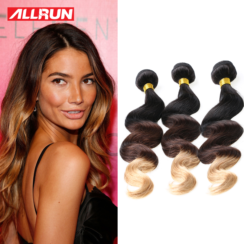 Ombre Malaysian Hair Extensions 7A Malaysian Virgin Hair Body Wave 3 PCS T1B/4/27 Malaysian Body Wave Ombre Human Hair Bundles<br><br>Aliexpress