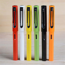 Jinhao 599A Candy Color Plastic Fountain Pen With Ink Sac For Kids Student Gift School Materials Free Shipping 1814