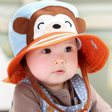 2017 Toddler Infant Sun Hat Baby Cap Newborn Photography Props Spring Summer Outdoor Wide Brim Baby Girl Hat Beach Bucket Hat(China)