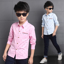 New Arrival 2017 Collar Full Sleeve Casual Children Clothes boys shirts fashion Print Anchors cotton Kids blouse clothing 724