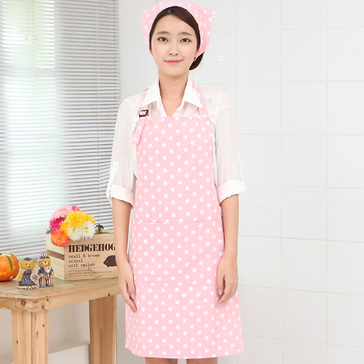Double waterproof apron manufacturers Korean foreign trade custom gift advertisement apron princess apron(China)