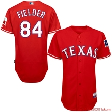 MLB Men's Texas Rangers Prince Fielder Baseball Red Alternate 6300 Player Authentic Jersey(China)