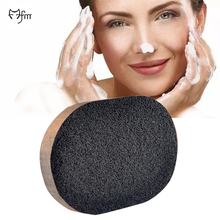 FM Soft Natural Black Bamboo Sponge Beauty Facial Wash Cleaning Cosmetic Puff Charcoal black Hot Sale(China)