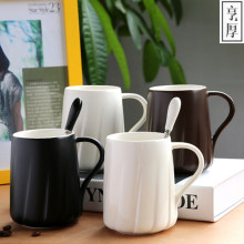 2017 Ceramic Creative Cups Black and White Coffee Mugs For Lovers European Couple Cup Set Novetly Gifts Upscale 370ml