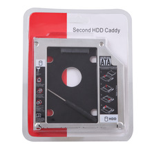 "Hot  2nd HDD Caddy 12.7mm SATA 3.0 for 2.5"" 1TB SSD Case HDD Enclosure + LED Indicator for Notebook 12.7mm SATA ODD DVD-ROM"