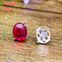 100% 925 Sterling Silver Jewelry Blank Ear Stud with Fit 7*9mm Base Tray for Diy Jewelry Earring Fittings