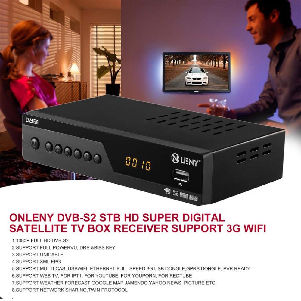 ONLENY DVB-S2 STB High Definition Super Digital Satellite TV Box Receiver Support 3G Wifi