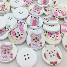 New 10pcs European Owl Wood Buttons 30mm Sewing Craft Mix Lots Wholesales