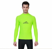 New Men's Long Sleeve Anti-UV Rashguards Plus Size Diving Scuba Wetsuit Top for Men Windsurf Clothing Swimsuit Pullover Tights(China)