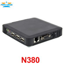 Partaker Black CE 6.0 N380 PC Station Thin Client Support XP 2000 Server 2003 Windows 7 or 8 Linux(China)