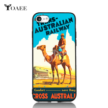 Camel Train Travel to Australian Pop Art For iPhone 5 5s SE 6 6s 7 Plus Case TPU Phone Cases Cover Mobile Protection Decor Gift(China)
