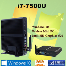 7th Gen Intel Core i7 7500U Mini pc antennas Max 3.5GHz Intel HD Graphics 620 Mini PC 4K Windows 10  ini computer