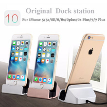 Original 2 in 1 Sync Data Charging Dock Station Docking Stand Desktop USB Charger For iPhone 7 SE 5 5S 6 6S Plus Micro Type C
