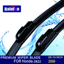 "RAINFUN U-hook Size:26""+14"" Fit For Honda Jazz(2008 onwards)High Quality Windscreen Wipers Wiper blade rubber replacement"