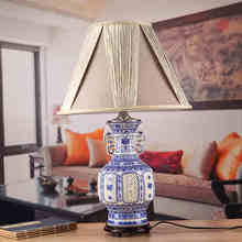 Blue and white China Antique Living Room Vintage Table Lamp Porcelain Ceramic Table Lamp wedding decoration modern lamp table