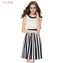 Cocktail Dresses HE05134WH New Arrival Ever Pretty White Round Neck Short Elegant Sexy On Line Cocktail Dress For Girl 2017