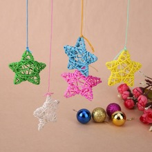 5pcs 10 color Lovely Rattan Star Sepak Takraw for Wedding Birthday Party DIY Decoration for Home DIY Art Ornaments Rattan Ball(China)
