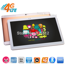 Latest 10 inch Octa Core 4G LTE Tablet Android 6.0 4GB RAM 32GB ROM 8.0MP Dual SIM Card Bluetooth GPS Tablets 10.1 + Gifts
