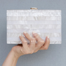 Women messenger bags Clutch Bag 2016  Women Bags Transparent Pearl white Perspex Clutch Evening  Handbag Acrylic Bag