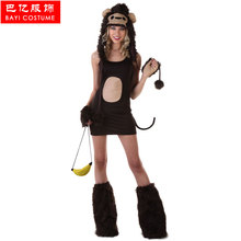 IREK hot Sexy Monkey Halloween Costume Adult Women cosplay costume for carnival party top quality(China)