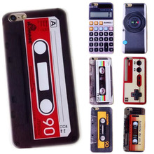 100 pcs Wholesale Retro Cassette Tape Tpu Silicone Case For Coque iPhone 5 5s se 6 6s 6plus Cases camera Capinha Carcasa hoesjes(China)