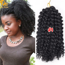 Short Crochet Braids Curly Hair Extensions Synthetic freetress Kinky curly crochet hair Ombre bohemian curly bulk braiding hair