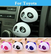 Car Air Freshener Conditioning Vent Flavoring Perfume Panda For Toyota Prius Prius c Probox Progres Pronard RAV 4 Rush Sai(China)