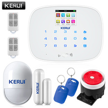 Kerui IOS Android APP Wireless GSM Alarm System TFT Color Display Autodial Text Burglar IntruderSecurity Alarm Pet Immune PIR