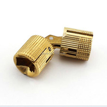 New 2pcs 8mm Brass Furniture Cabinet Hinge Cylindrical Hidden Concealed to Cabinet Door Hinges Table Hinge 8-16mm H000-8(China)