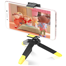 ASHANKS Mini Phone Tripod with Holder Mount/Selfie Portable Tabletop Travel Tripod for iPhone 7 Plus Sony Samsung Mobile Phone(China)