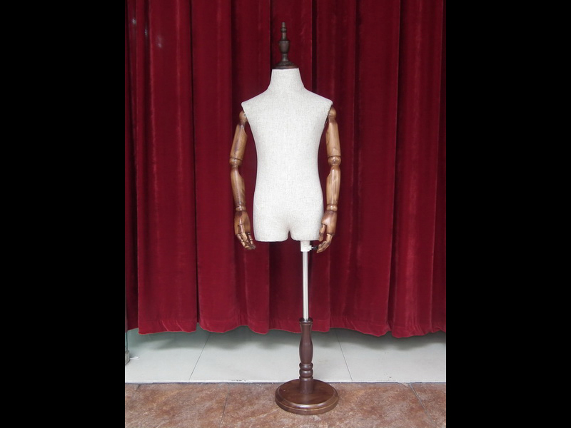 EMW-HXK006A linen kids mannequin with arms_01