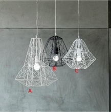 Modern Wrought Iron Bird Cage Pendant Lights American Retro Industrial LOFT Bar Hanglamp Geometric Lamp Fixtures E27 Lampe Deco