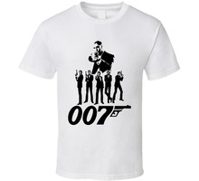 2017 Streetwear Short Sleeve Tees James Bond 007 Vintage T Shirt New Arrivals Casual Clothing