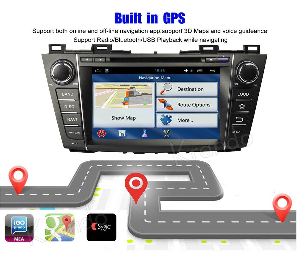 krando mazda 5 premacy android car radio gps dvd player navigation multimedia system (6)
