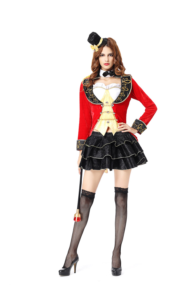 Scary Circus Costume Woman Sexy Magician Costume Sexy Halloween Costumes  For Women Adult Carnival Costumes Womens 6 Person Halloween Costumes Female